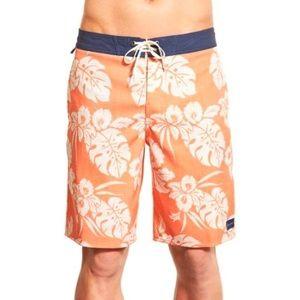 O'Neill orange Hawaiian board shorts size 31